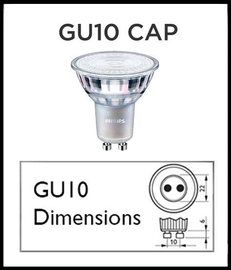 GU10 LED cap drawing