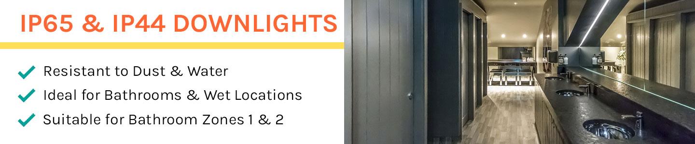 Downlights IP65 e IP44