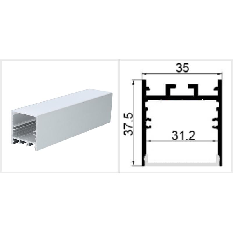 LED Aluminium Profile 35mm Wide For LED Tape (Per Metre)