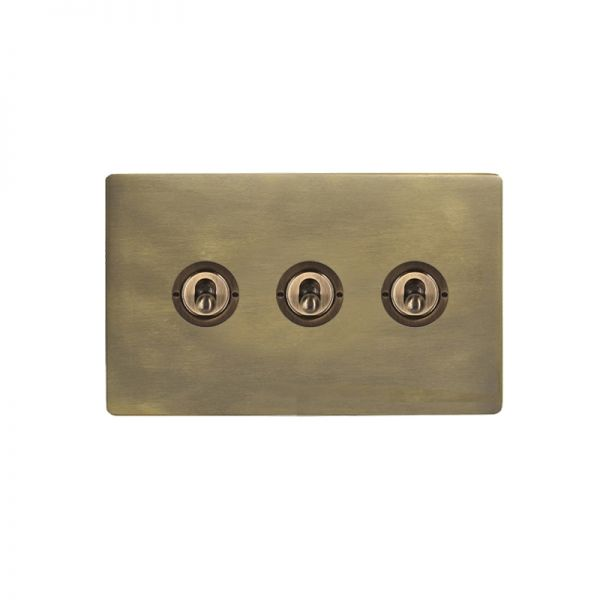 Hamilton Sheer CFX 3 Gang Toggle Switches Connaught Bronze