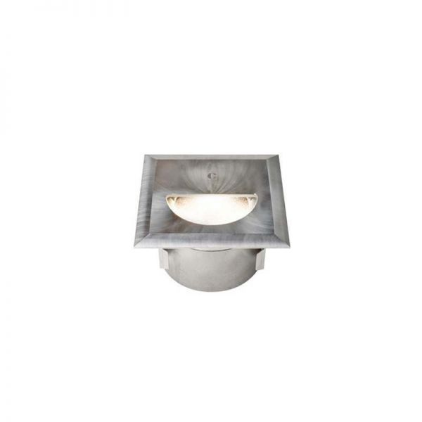 Collingwood Asymmetric Square Brushed Steel Mains Step Light