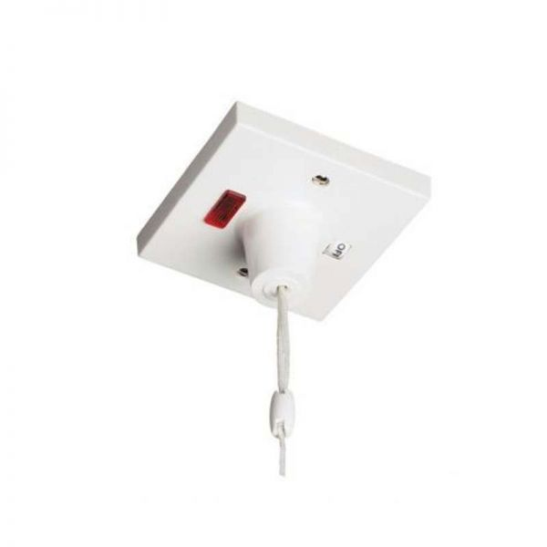 45A DP Pull Cord Switch With Mechanical On/Off And Neon