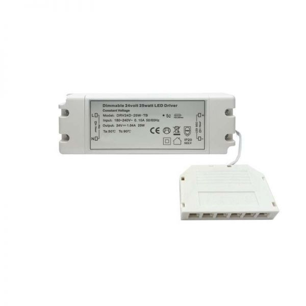 Mains Dimmable Driver 30W 12VD With TOP6 Junction Box