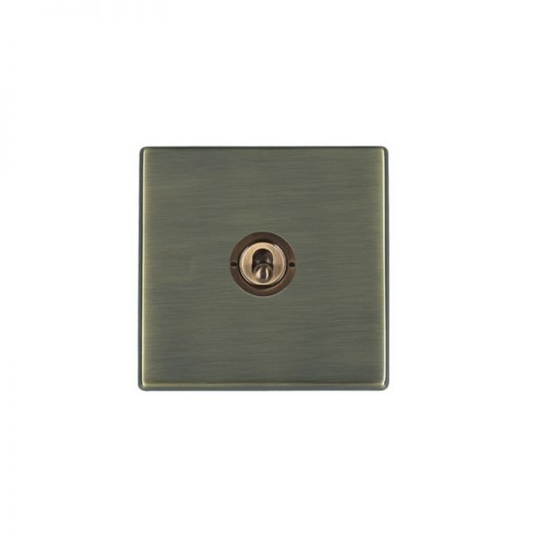 Hamilton Hart G2 1 Gang Antique Brass Toggle Switch