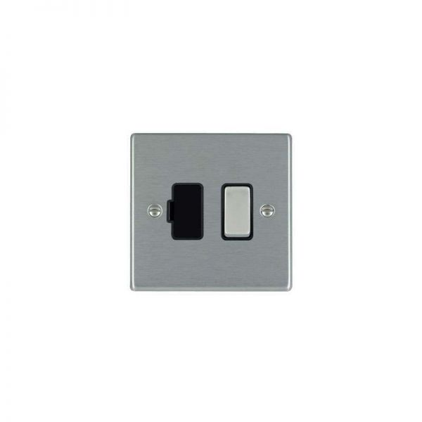 Hamilton Hartland Fused Spur DP 13A Switche Stainless Black