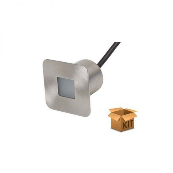 Square Plinth Light Piazza Kit C/W 4 Piazza White LED And Driver