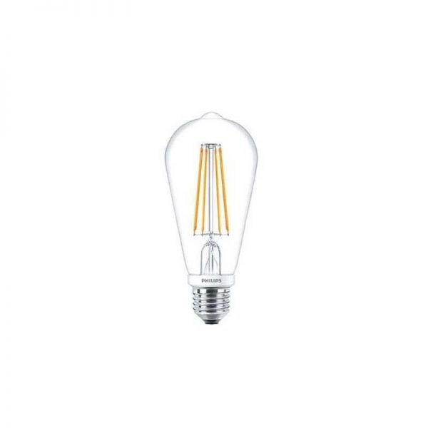 Philips LED Tear Drop Lamp 7W E27 Clear ST64 Dimmable