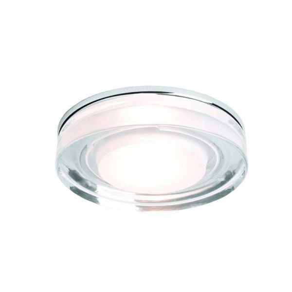 Vancouver Round Downlight Polished Chrome Clear Glass GU10