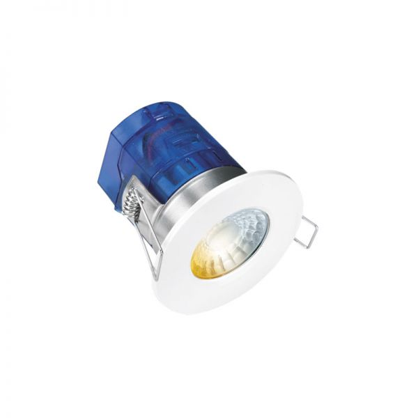 Aurora Colour Switchable LED Fixed Fire Rated Downlight White