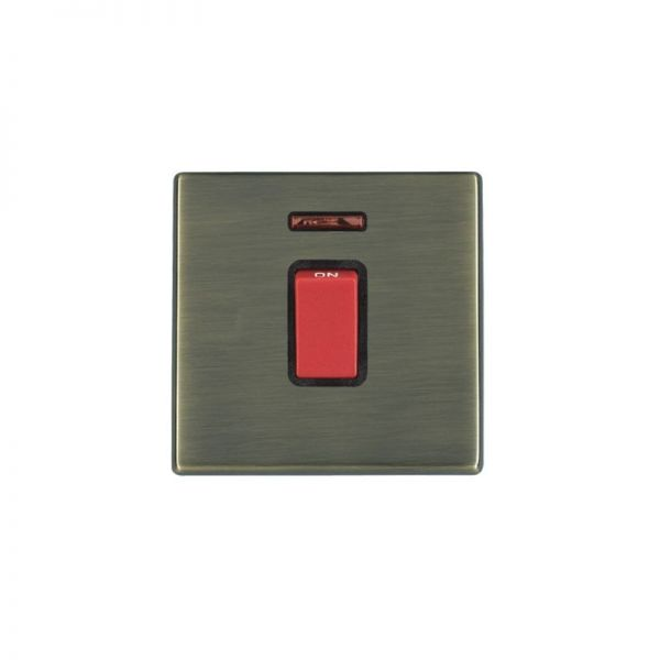 Hamilton Hartland G2 45A DP Red Rocker Switch With Neon