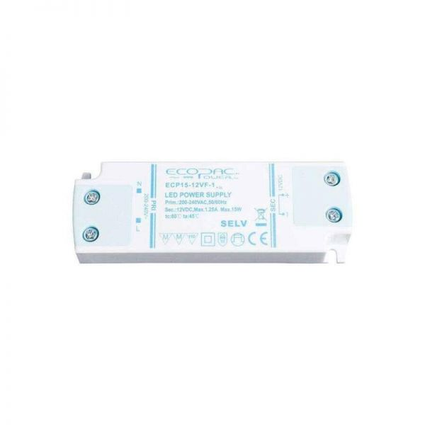 Ecopac Non-Dimmable Constant Voltage 15W LED Drivers