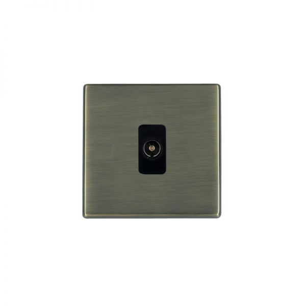 Hamilton Hart G2 AB 1 Gang Isolated TV 1In/1Out Outlet Black