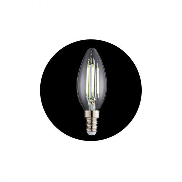 Forum Inlight 4W E14 Candle Dimmable LED Filament Lamp 4000K