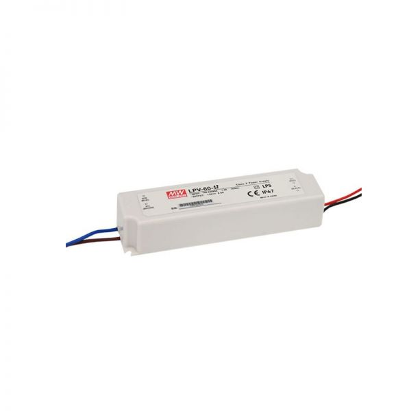 Mean Well Constant Voltage LED Driver 60W IP67