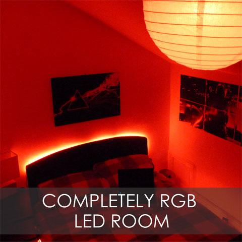 Completely RGB LED Room - RGB LED Strip & Wireless RGBW Lamps