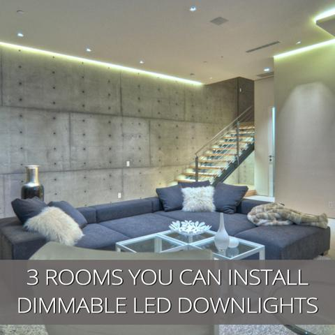 3 lugares para instalar downlights LED regulables en su hogar