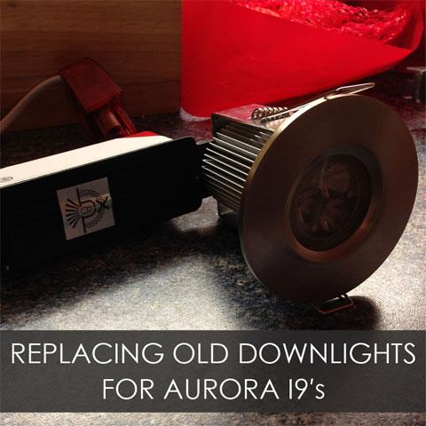 Replacing Old Downlights For Aurora I9's In A Kitchen