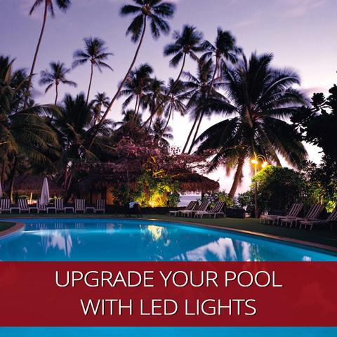 Actualice su piscina con luces LED