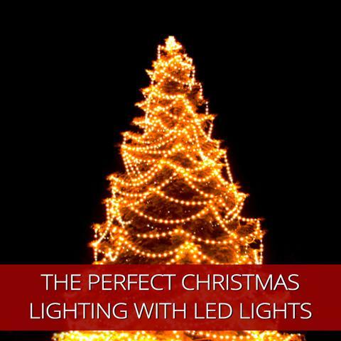 Crea el sentimiento navideño perfecto con luces LED