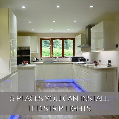 5 Places You Can Install LED Strip Lights