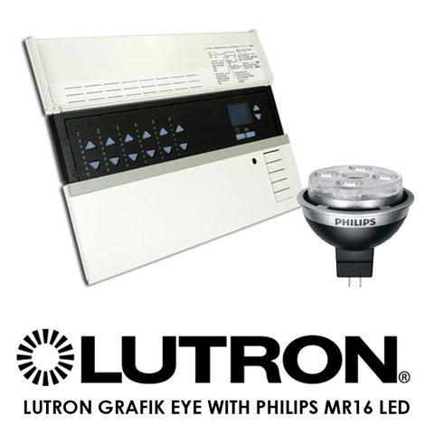Lutron Grafik Eye With Philips MR16 LEDs