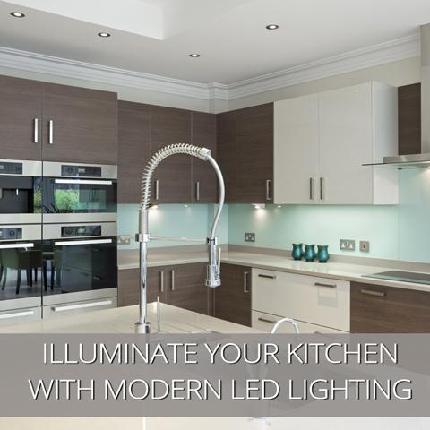 Ilumine su cocina con iluminación LED moderna