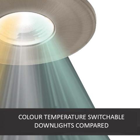 Downlights intercambiables de temperatura de color comparados